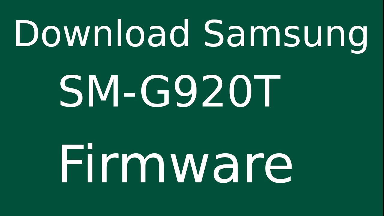 Samsung Galaxy S6 Sm G920t Flash File Firmware Download