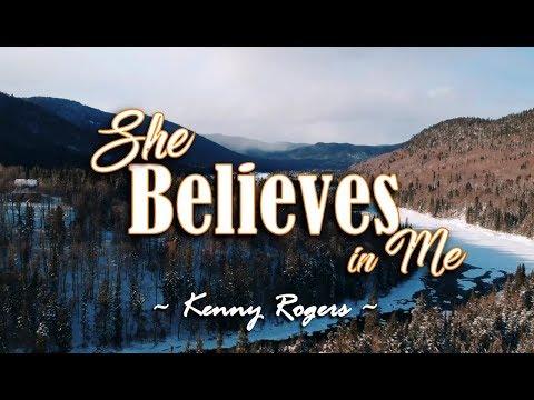 She Believes In Me - Kenny Rogers (KARAOKE VERSION)