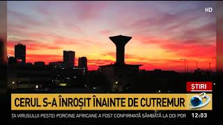 Ce s-a întâmplat pe cerul Bucureștiului, înainte de cutremur