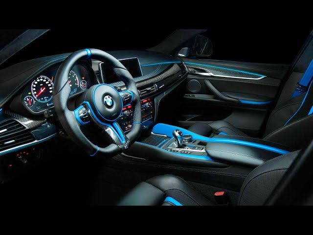 The interior of the BMW X6 M by Vilner