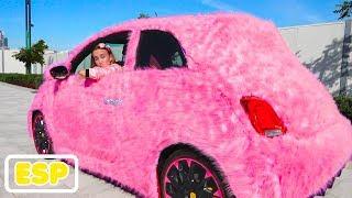 Vlad y Nikita Coche rosa para niñas