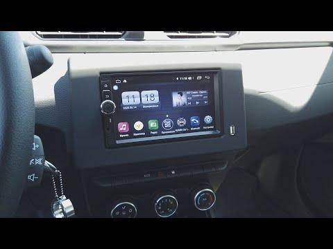 Установил универсальную 2 DIN Android магнитолу в Рено Аркана!!!