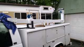 DIY Homemade Truck Crane on Service / mechanics truck, built like an old Auto Cable Crane