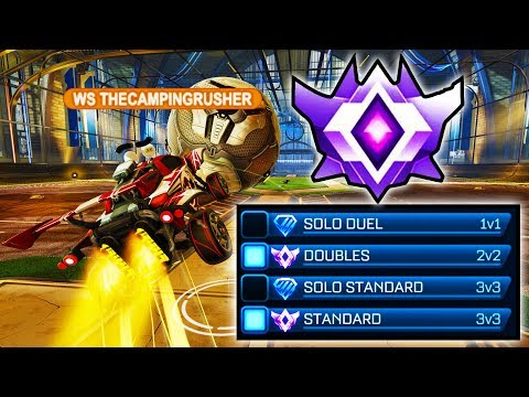 THECAMPINGRUSHER= GRAND CHAMP TODAY?! ( Standard 3v3 in Rocket League )