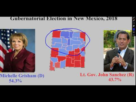 Gubernatorial Election Prediction in New Mexico, 2018