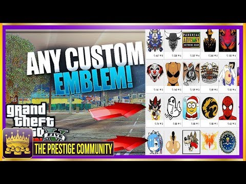 GTA 5 Online: How To Get ''CUSTOM CREW EMBLEMS 1.40'' EASY Custom Crew Emblem Tutorial (ALL ConsoleS