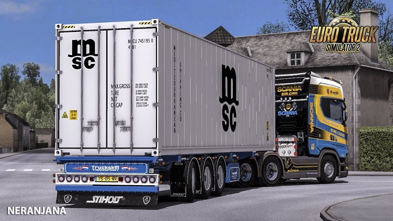 Ownable Truckskill Container Trailer | ETS 2 mods