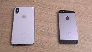 iPhone XS vs iPhone SE iOS 12 - Speed Comparison!