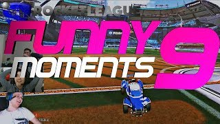 ROCKET LEAGUE FUNNY MOMENTS 9 😆 (FUNNY REACTIONS, FAILS & WINS BY COMMUNITY & PROS!)