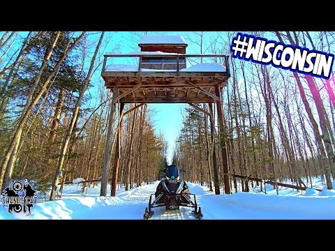 3 Counties In 1 Day | WI Snowmobile Trails
