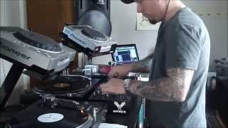 3 decks 100% vinyl techno mix 2013