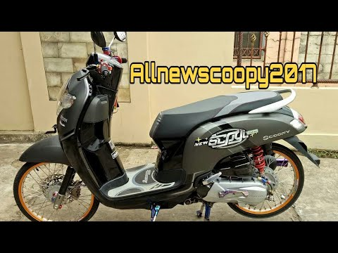 All New Scoopy 2017 Modif Stylish Cocok Buat Yang Hobby Modif
