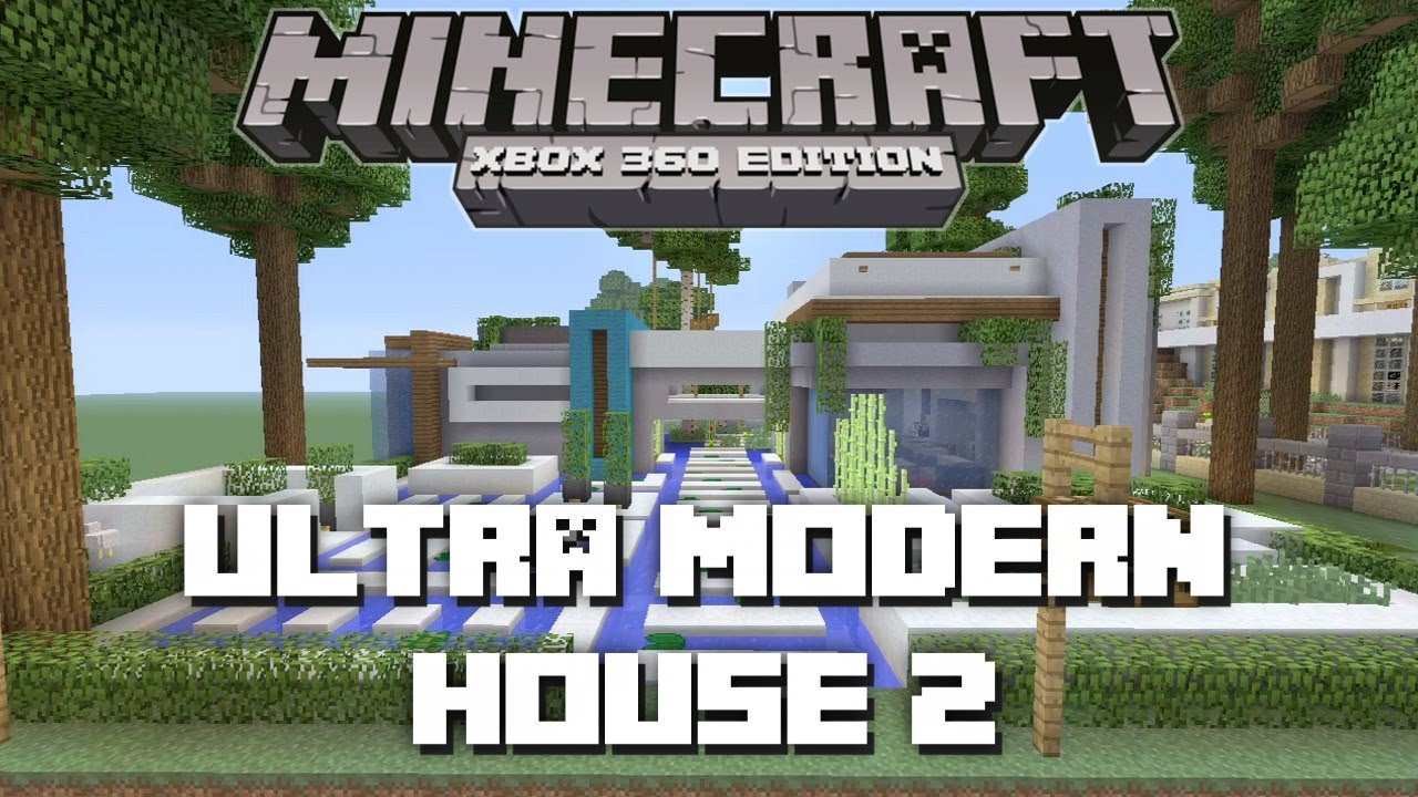 Minecraft xbox 360 ultra modern house 2 house tours of for Modern house xbox minecraft
