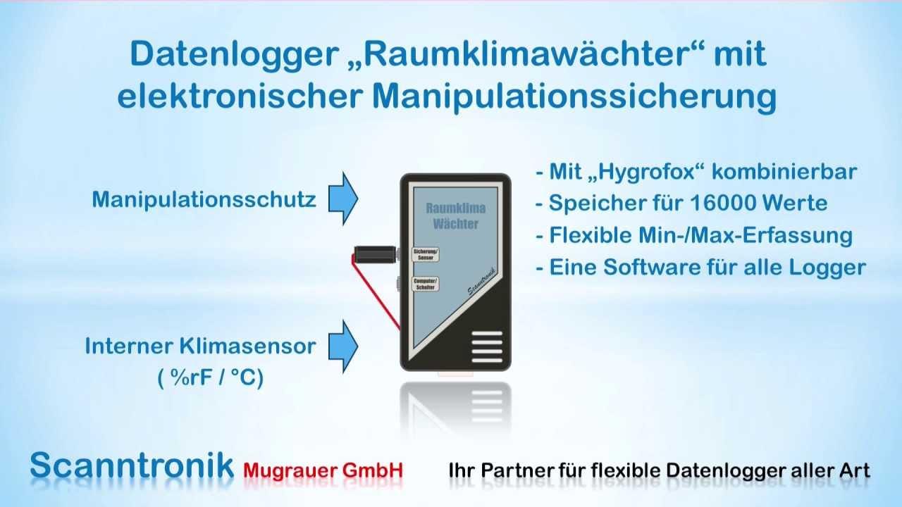 Datenlogger - Raumklima Wächter für Temperatur & Luftfeuchte inkl ...
