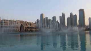 Dubai Mall Water Fountain Show (杜拜水舞秀)