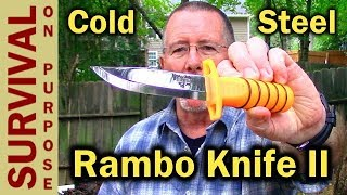 Baixar $27 Rambo Knife - Cold Steel Survival Edge (This One Is Sharp!)
