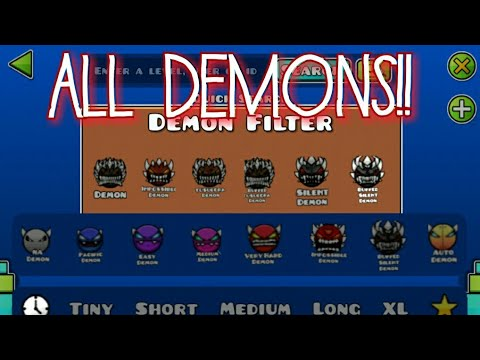 Geometry Dash All Difficulties Are Demons Youtube