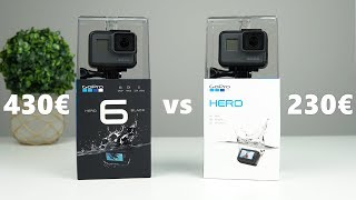 GoPro HERO (2018) vs HERO6 Black | Side By Side comparison