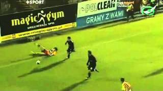 14. kolejka. Jagiellonia - Cracovia 4:2. Skrót meczu