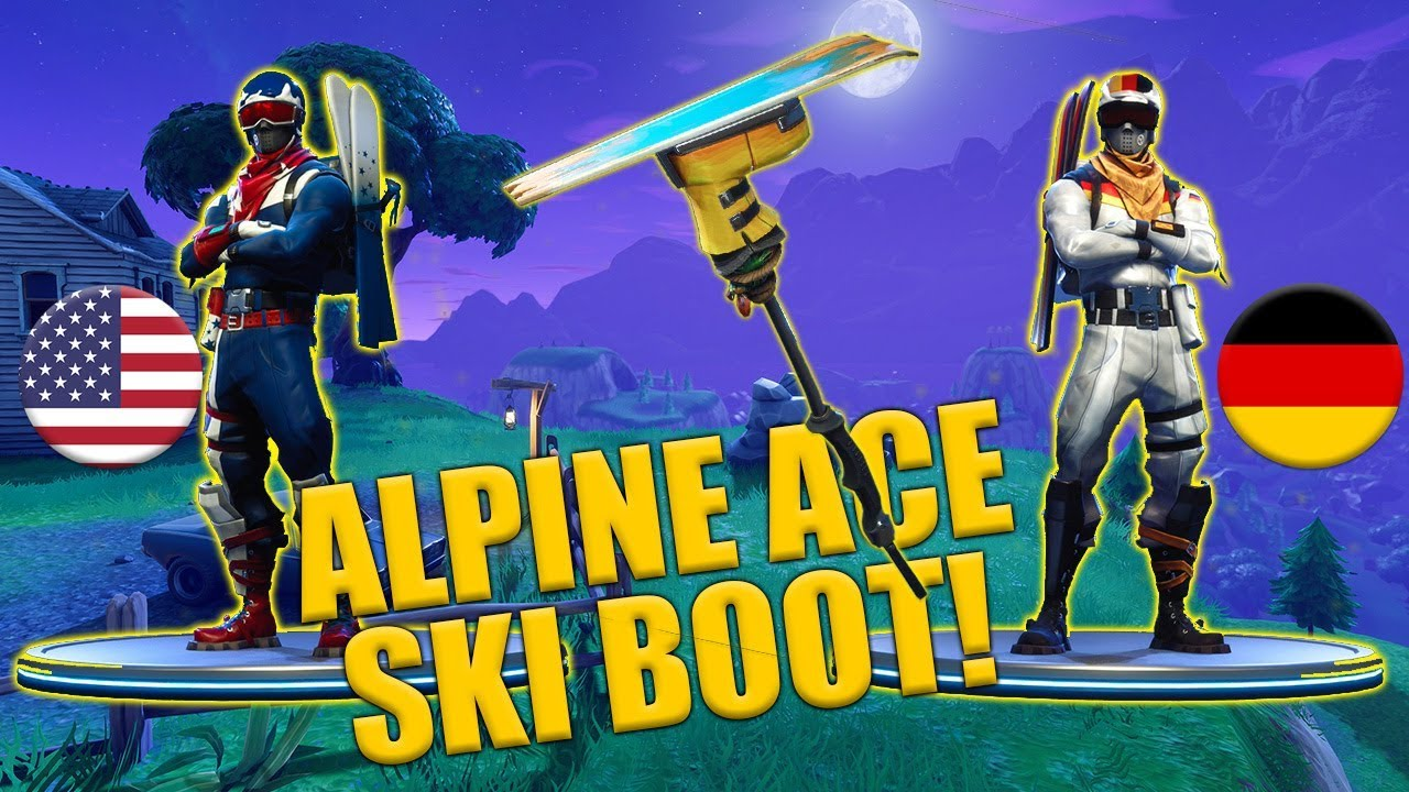 Alpine Ace - USA - GER - Ski Boot Harvesting Tool - Fortnite - Clip.FAIL