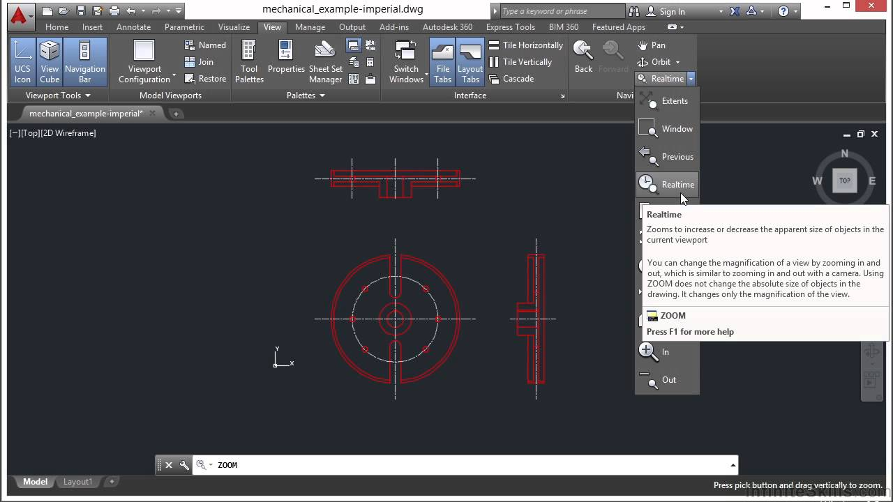Autocad zoom tutorial 2015 29 youtube for Fenetre zoom autocad