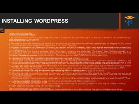 WordPress Ecommerce Training - Install WordPress - Instructional Designer