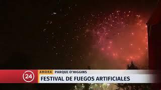 Así se vieron los fuegos artificiales del Parque OHiggins