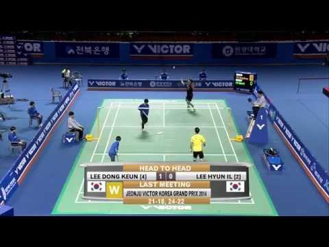 Jeonju Victor Korea Masters 2015 | Badminton F M3-MS | Lee Dong Keun vs Lee Hyun Il