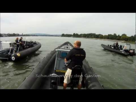 4 Extrem Rib Boote in Mainz in Action