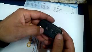 Ressetando controle de chave canivete.