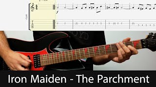 Iron Maiden - The Parchment Intro Guitar Riffs With Tabs