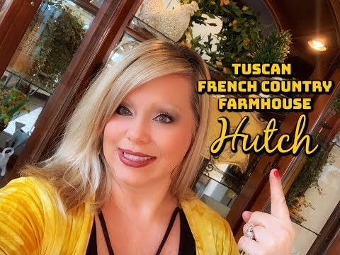 TUSCAN * FRENCH COUNTRY * FARMHOUSE STYLED HUTCH - DECORATE WITH ME FOR SPRING!