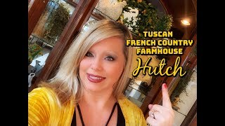 Tuscan * French Country * Farmhouse Styled Hutch   Decorate With Me For Spring!