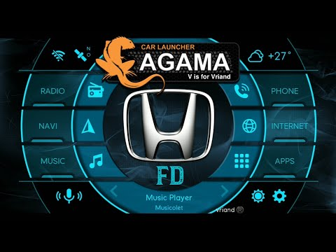 AGAMA Honda FD Bluish Silver THEME for Android