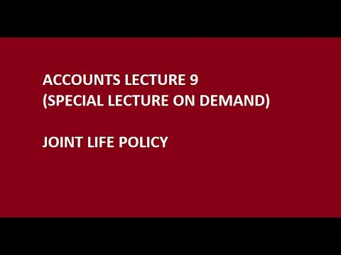 Joint Life Policy - Video On demand for CA Foundation