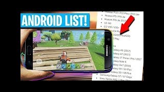 ALL FORTNITE ANDROID Compatible PHONES!