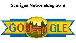 Sveriges Nationaldag - 6 juni 2016 - Sweden National Day (Google Doodle)
