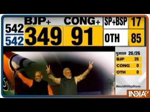 Election Results 2019 | BJP+ की 349 सीटों पर ऐतिहासिक जीत, Congress+ 91 सीट, SP-BSP 17, OTH 85