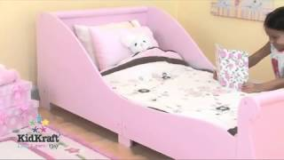 Kidkraft Pink Sleigh Toddler Bed