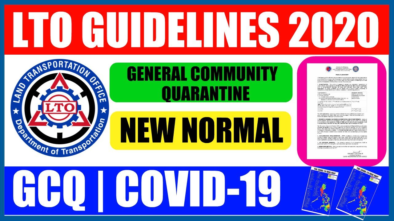 Lto Guidelines 2020 Gcq Covid 19 New Normal Youtube