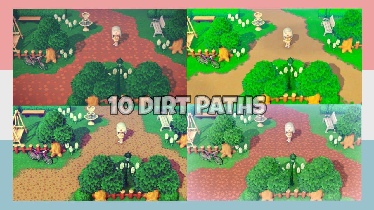 Top Popular 10 Dirt Path Custom Designs On Twitter In Animal Crossing New Horizons Design Id Codes Youtube