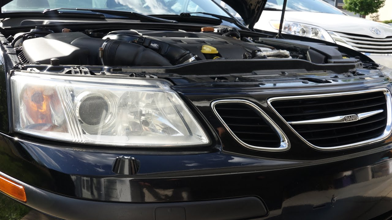 How To Change SAAB 9-3 HID Xenon Headlights - YouTube