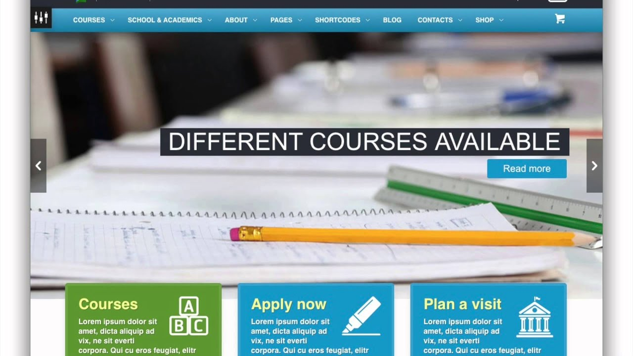 Online courses website