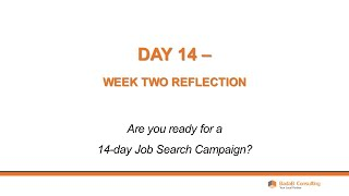 Day 14 - Week Two Reflection