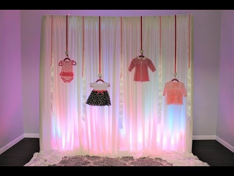 Baby Shower Ribbon Backdrop Diy How To Youtube