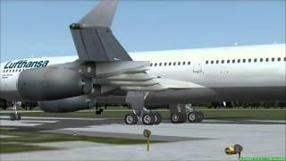 FS2004 - Landing at Airport Zurich / Swiss with A340 Lufthansa.mp4