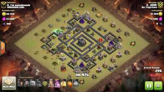 Clash of Clans Clan War Replay | TH9 | GoWiWi | JADE | Be Together
