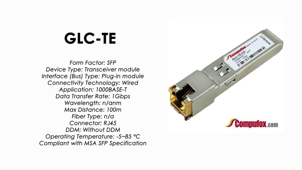 GLC-TE | Cisco Compatible 1000BASE-T SFP RJ45 100m