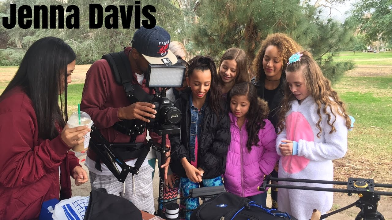 Behind the scenes- Cheap Thrills| Jenna Davis - YouTube