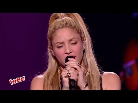 Shakira - Commo Moi Live The Voice France( Feat. Black M)